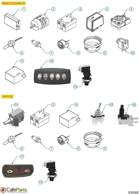 Expobar Coffee Machine Pressure Switch 16a 250v 1 Bar 1//4