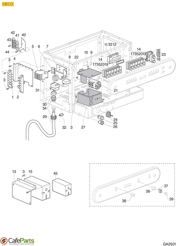 Gaggia Deco Electrical System Cafeparts Com