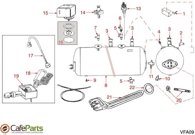 espresso-machine-parts  vfa  boiler